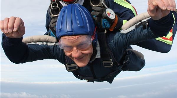 David on his charity skydive