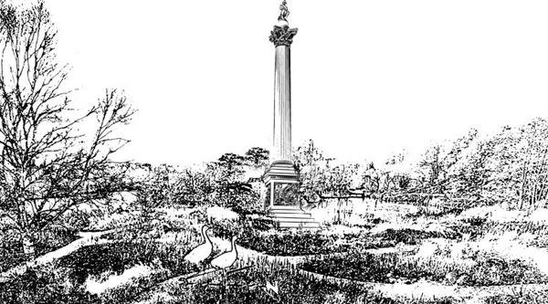 Artist impression of Nelson's Column in North Norfolk