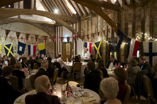 Nigel in action at the last Trafalgar Dinner held in 2014.