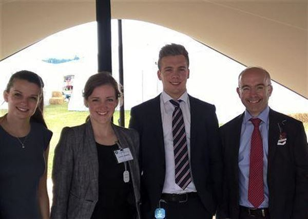 Picture - Nigel and 3 former interns, all on stellar careers: Claire - now at Boston Consulting Group (Recruitment);  Laura - now at Durham University;  Ben - now at Accenture (Consulting).